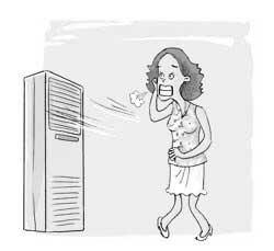 女性久吹空调易月经紊乱